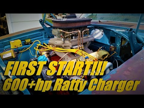Road To Jezebels 600+hp 505 Stroker First Start Ratty Dodge Charger BUILD Pt 12
