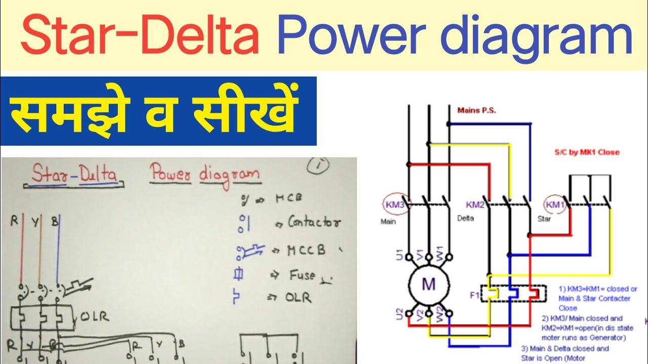 Star Delta Starter Power Diagram