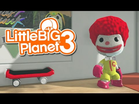 LittleBIGPlanet 3 - Naruto, Ronald McDonald and Angry Whale [Playstation 4]