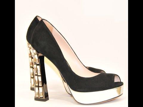 Модные женские туфли на высоком каблуке 2017