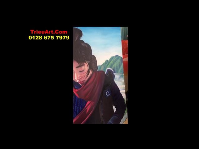 vẽ tranh chân dung, tranh son dau trieuart com 078 675 7979