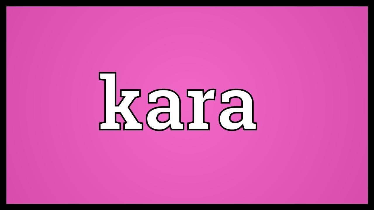 what does kara mean in greek