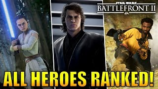 Every Hero Ranked from Worst to Best! - Star Wars Battlefront 2