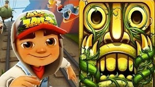 Temple Run 2 VS Subway Surfers iPad Gameplay for Children HD #36