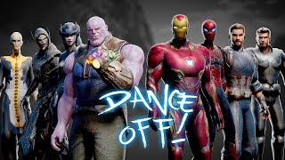 AVENGERS vs THANOS  Infinity War DANCE-OFF