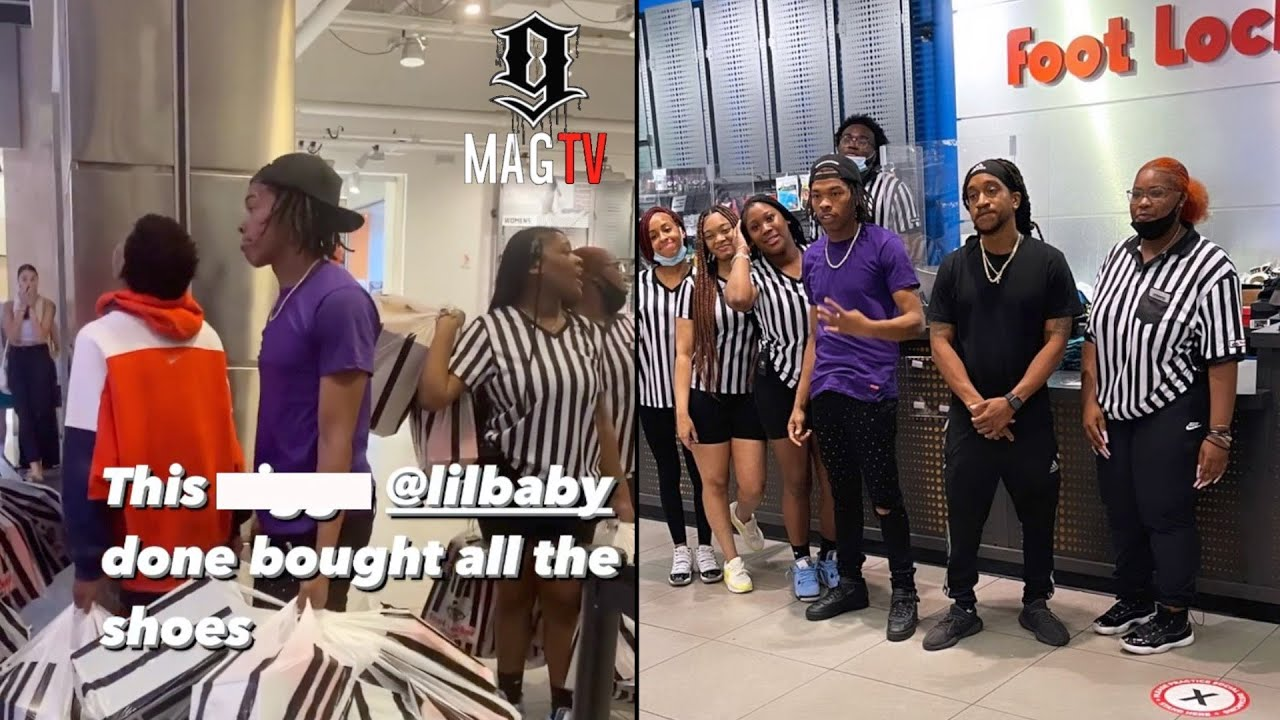 Lil Baby Empties Out Foot Locker For The Kids In His Community! 👟