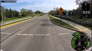 Downhill Cycling  (37MPH on a CX bicycle on open road)