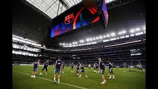 Entreno del Barça en el AT&T de Dallas