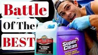 Meguiars All Purpose Cleaner VS. Super Clean Degreaser: Car Leather!