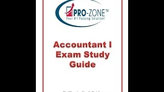 Accountant I Exam Study Guide