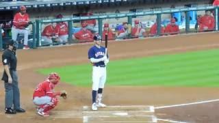 Jose Altuve and Carlos Correa at bat... Astros vs. Angels...9/25/16
