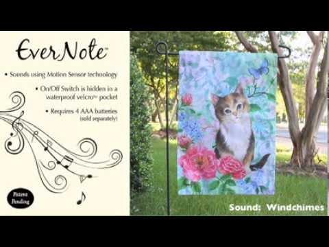 Evernote™ Garden Flag - 14EN2928 Soft Kitty