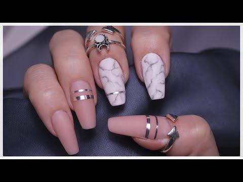 Ногти черные балерина