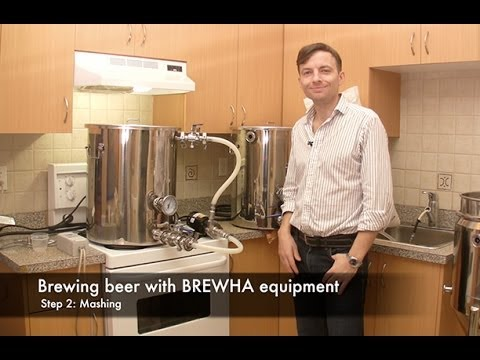 How To Brew Beer With BREWHA Equipment Step 2: Mashing