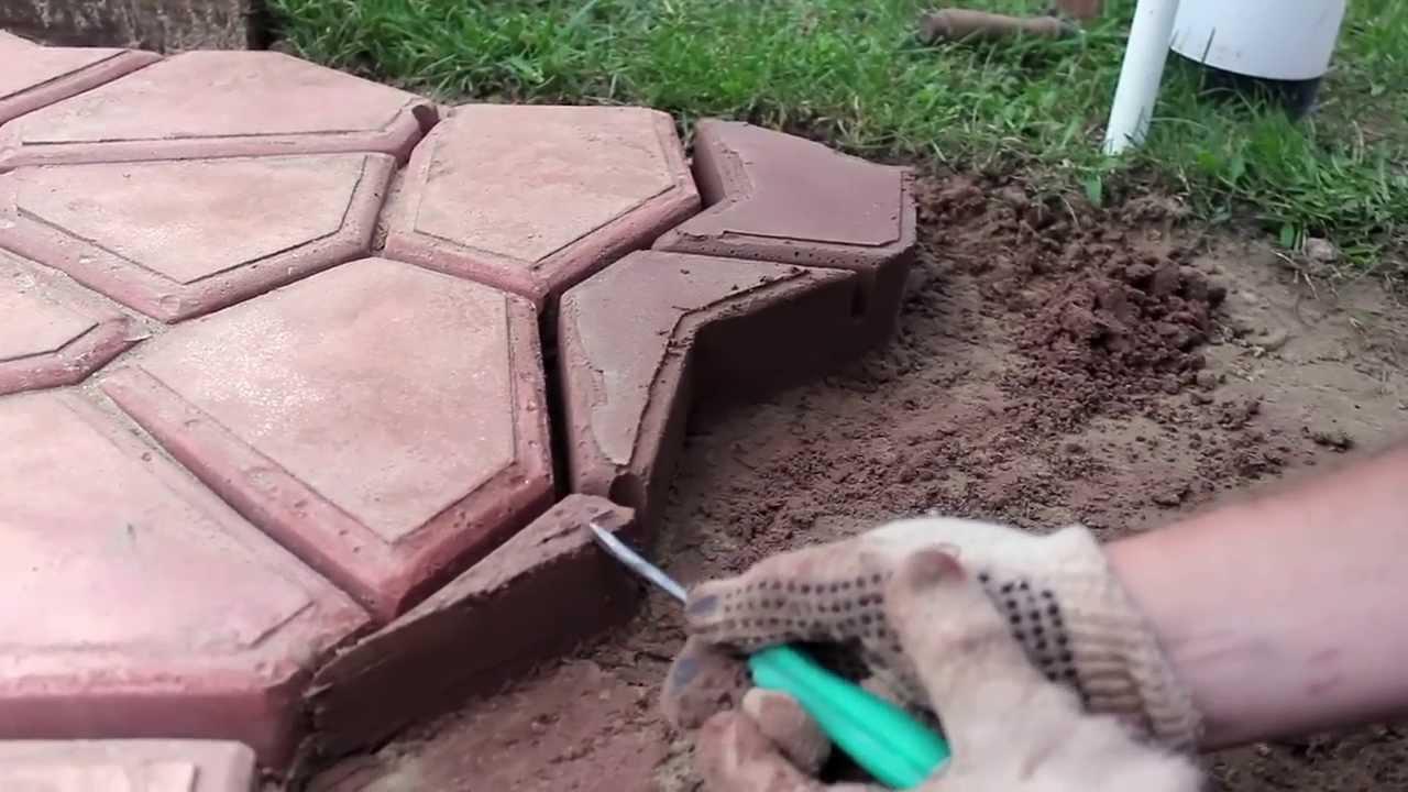 Цементный раствор для садовой дорожки своими руками маркировка строительного раствора