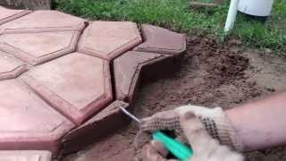 Repeat youtube video ЧАСТЬ 4: Садовая дорожка своими руками - Подрезка | PART 4: Handmade walkway  Cropping concrete tile