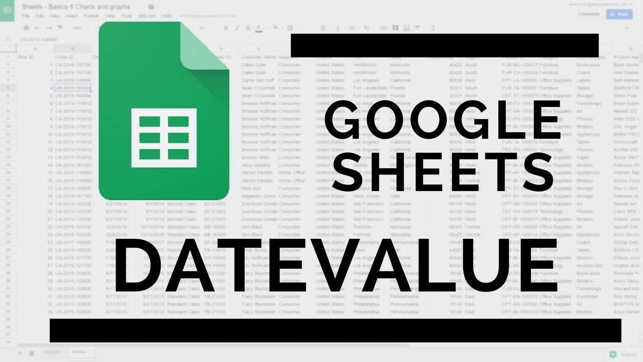 DATEVALUE Function in Google Sheets | Displays the date
