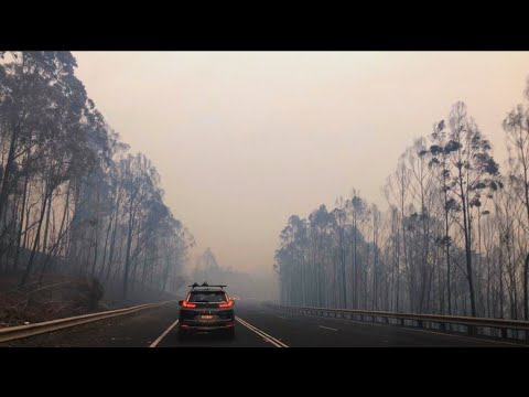 Canadian Escapes Flames On Australia's East Coast