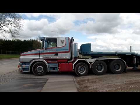 BROUWER TRIO TRUCKS IN ACTION,SCANIA & VOLVO