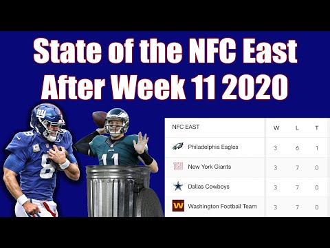 Recapping the state of the NFC East after Week 11  - Can the Giants win the division?