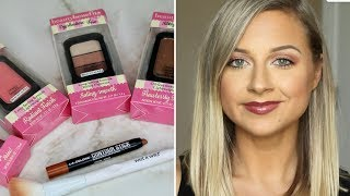 DOLLAR TREE MAKEUP - Benefit dupe brand?? Review/Demo