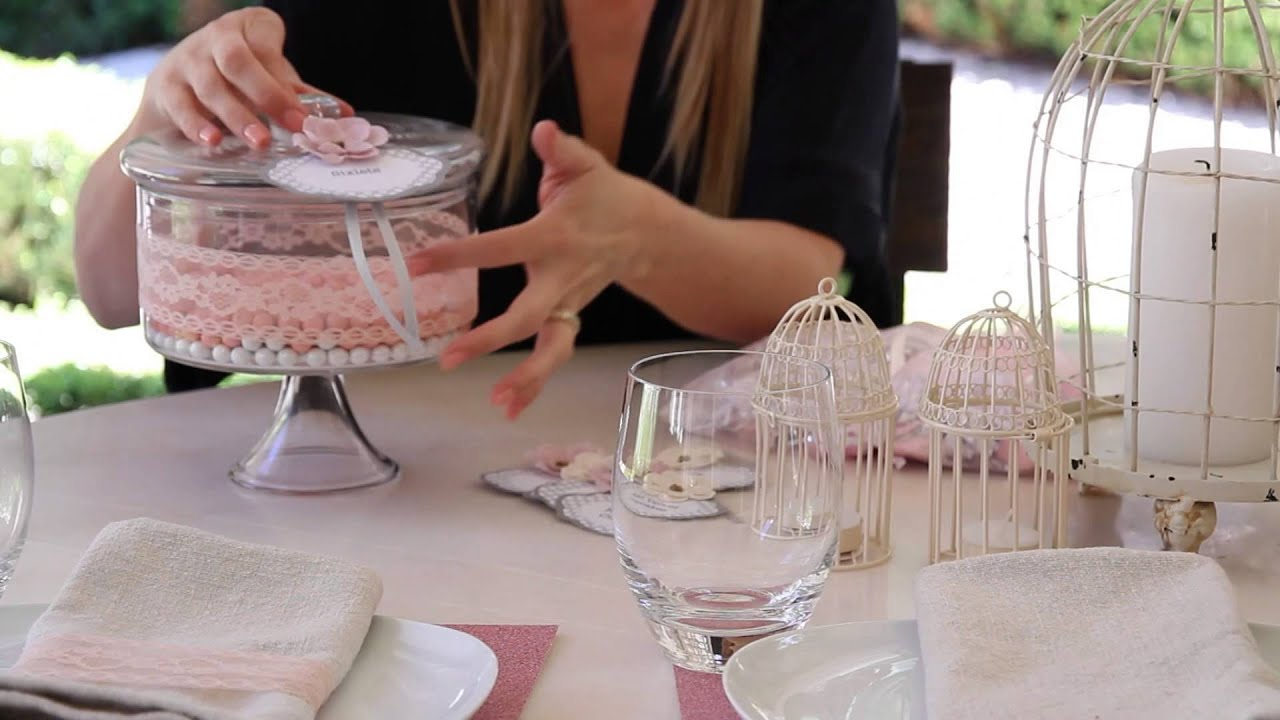 How To Decorate A Pink, Elegant Baby Shower : Crafting Ideas   YouTube