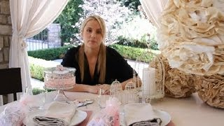 How to Decorate a Pink, Elegant Baby Shower : Crafting Ideas