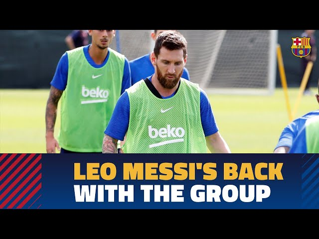 Recovery session with Messi and O. Dembélé