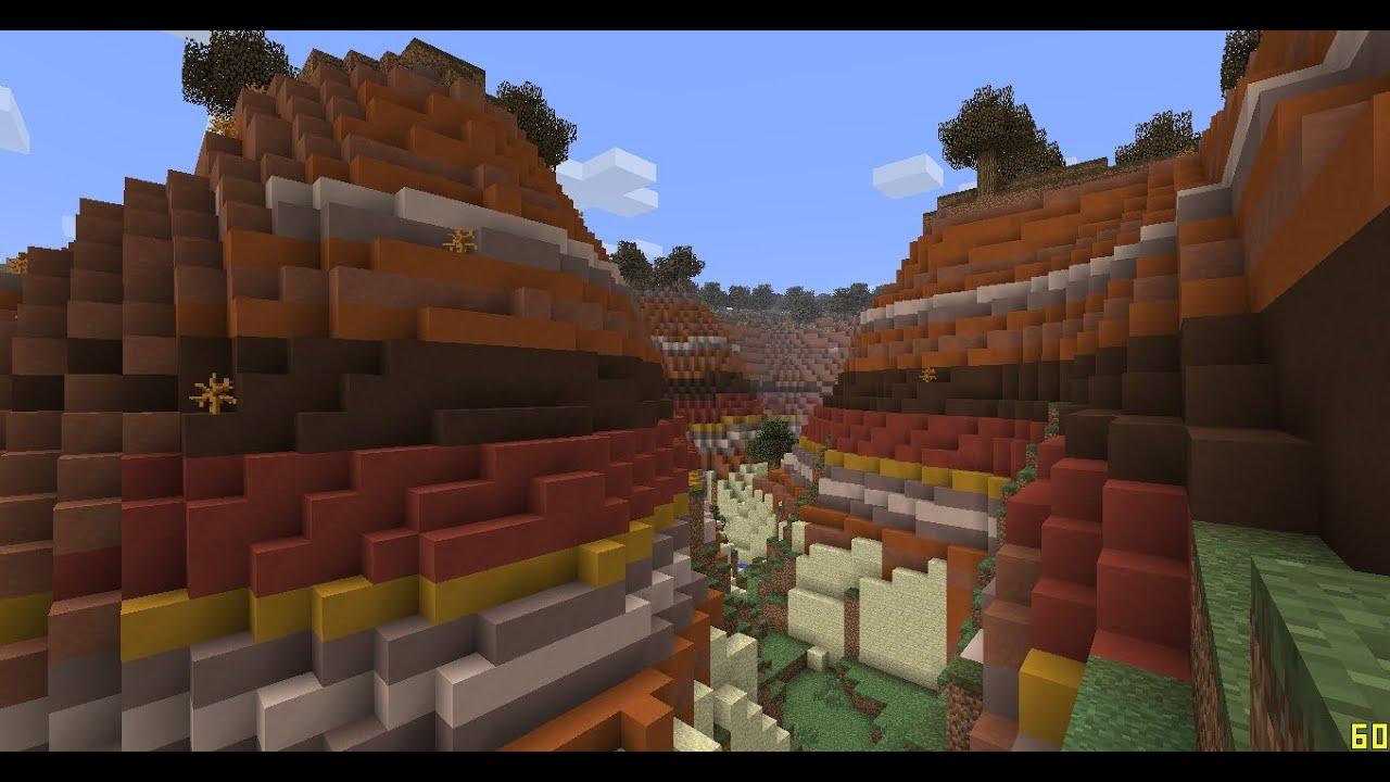 Minecraft 1.7 Biomes Mesa Minecraft 1.7 Seeds Mesa