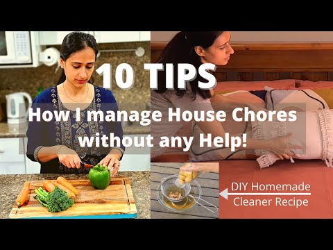 10 TIPS | How do I manage Household Chores without house help | Cook, Clean, Laundry, Products I use
