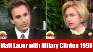 Hillary Clinton Interviewed by Matt Lauer about Monica Lewinsky 1998