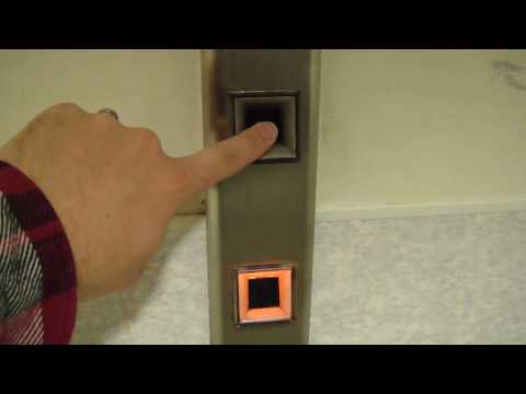 Elevator Trio: Awesome Touch sensitive Blue otis elevator @ Highland Hospital Rochester NY