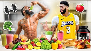 Eating Anthony Davis Diet & Workout For 24 Hours!