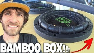 BAMBOO Subwoofer Box & HUGE Speaker Wire!?!? CRAZY Car Audio System Install w/ HCCA Subwoofers