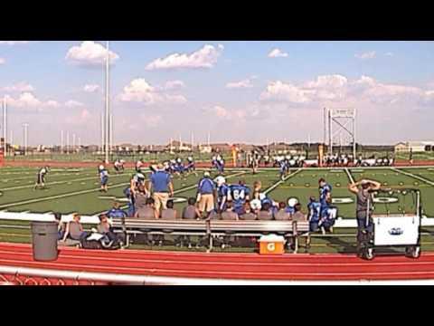"""Hudson Howe #31 touchdown - Running Brush Middle School 7th """"white team"""" vs Leander Middle School"""