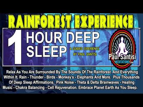 1 HOUR DEEP SLEEP RAINFOREST GUIDED MEDITATION THOUSANDS AFFIRMATIONS INSOMNIA REST PAUL SANTISI