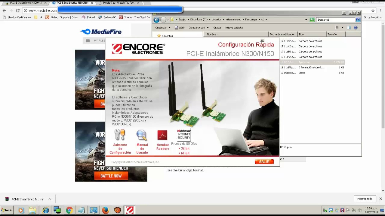 driver encore enuwi-n3 windows 7 64
