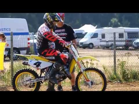 Ricky Carmichael on a 85cc at RCU Genk 2014 Uncut