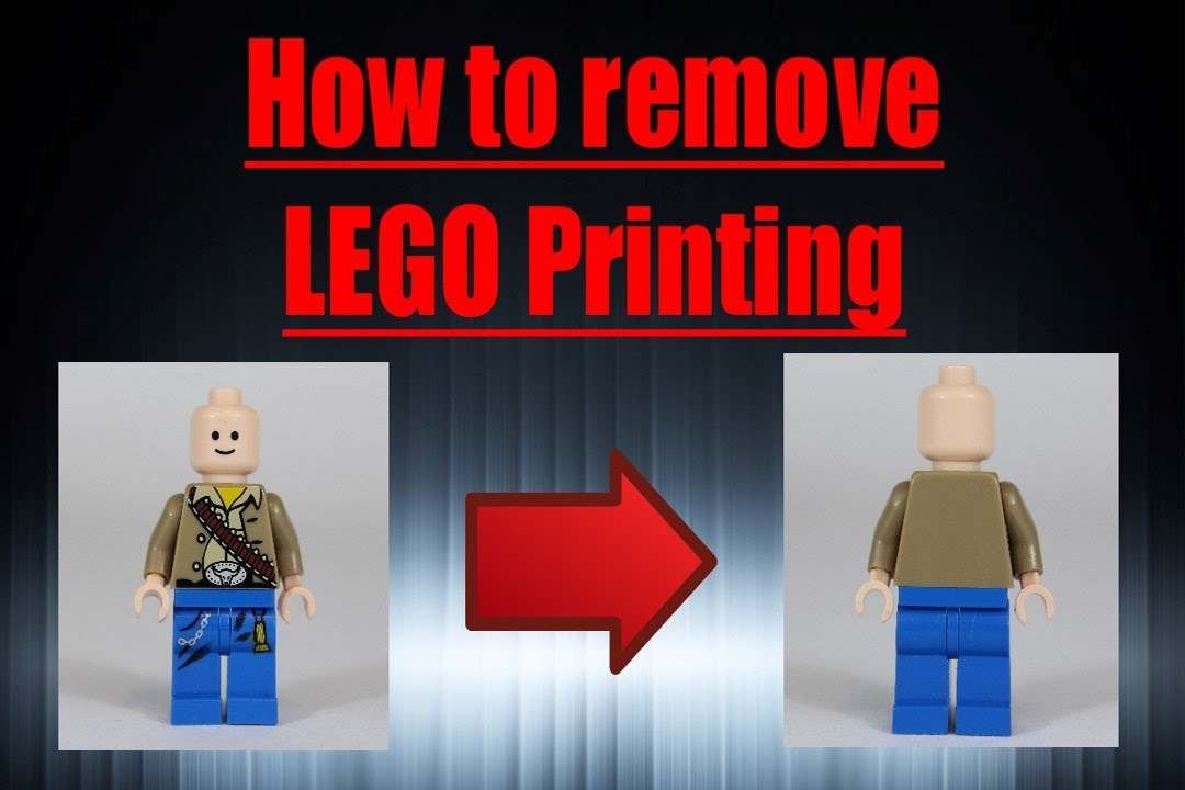 How to remove lego printing youtube