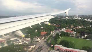 Anflug Hamburg - Approach and landing at Hamburg Int. Airport