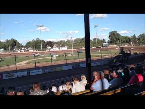 Plymouth Dirt Track Late Model Heat Races mp4 6 24 2017