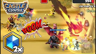 """Castle Crush Mobile Game 😱 Double Mana Speed Mode """"2X """"  GamePlay🔥  - LVL 10"""