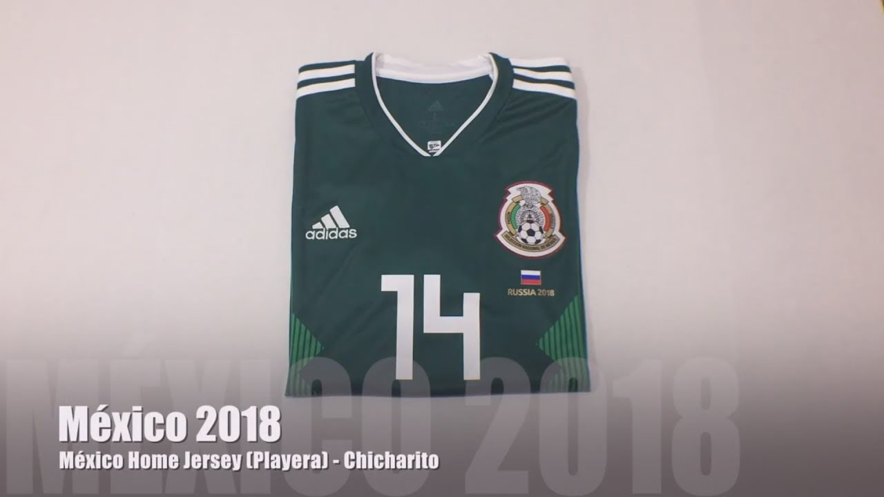 México Home Jersey 2018 (Local) - Chicharito - YouTube 6bf7847003733