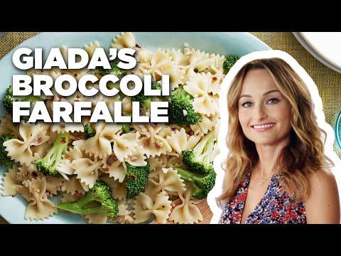 Giada De Laurentiis Makes Farfalle With Broccoli | Food Network