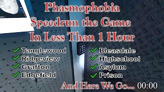Phasmophobia: Speedrun the Game in Less Than 1 Hour (Solo - Professional - All Maps)