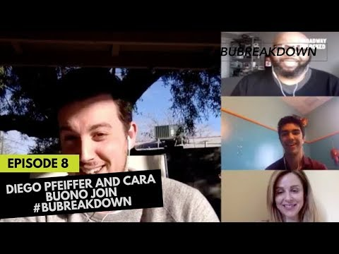Cara Buono and Diego Pfeiffer join #BUBreakdown