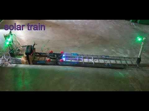 how to make solar train with track from home equipments || science exibition project ||