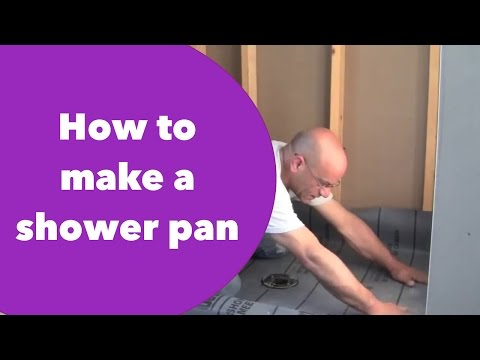 How to make a shower pan by a real professional.