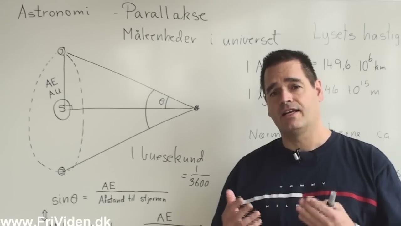Parallakse og måleenheder i astronomi