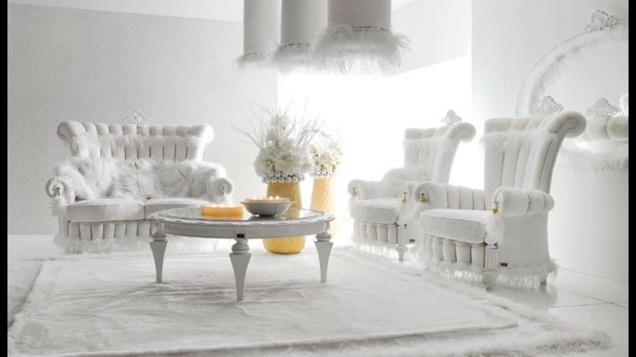 Glamurozne bele dnevne sobe - YouTube